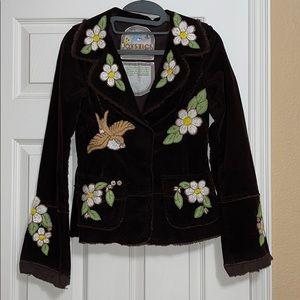 Joystick Embroidered Floral Blazer